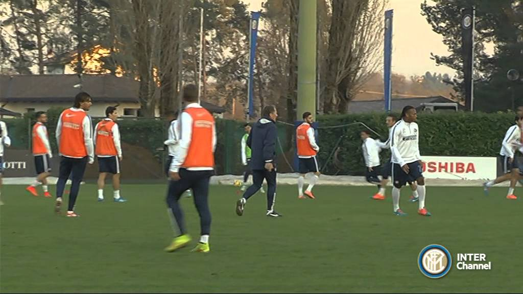 ALLENAMENTO INTER REAL AUDIO 22 11 2014