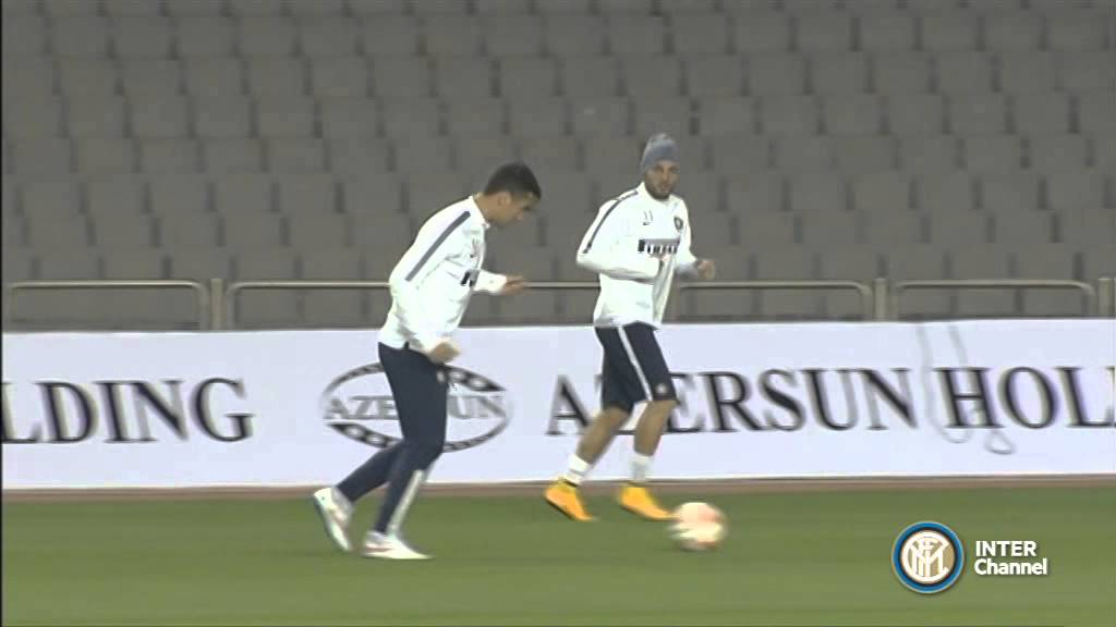 ALLENAMENTO INTER REAL AUDIO 10 12 2014 A BAKU