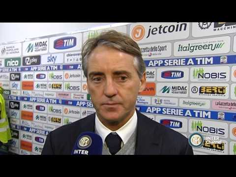 LE PAROLE DI ROBERTO MANCINI POST CHIEVO INTER